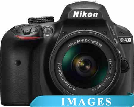 Фотоаппарат Nikon D3400 Double Kit 18-55mm VR II  55-200mm VR II